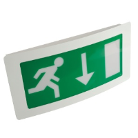 8w T5 Curved Maintained Emergency Exit Box In White