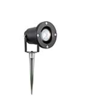 IP65 Rated Outdoor Low Voltage Spike Spotlight In Black