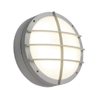 Saxby Lighting 7014A Lake IP65 28w 2D Bulkhead Light With Front Cover Grill In Grey