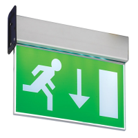 Saxby Lighting 43798 Muro LED Exit Sign With Arrow Down Legend