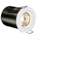 White Low Voltage Fixed Fire Rated Downlighter Kit