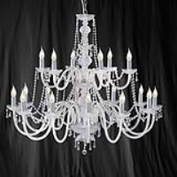 Searchlight 17218-18 Hale 18 Light Georgian Style Crystal Chandelier
