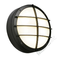 Saxby Lighting 7014BEM Lake IP65 28w 2D Emergency Version Bulkhead Light With Front Cover Grill In Black