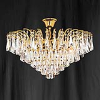 Searchlight 10478-46 Icicle Gold Finish/Crystal