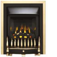 Valor 0596411 Blenheim Slimline Homeflame Gas Fire In Brass