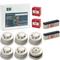 AlarmSense 4 Zone 2 Wire Fire Alarm Kit With A C-Tec Panel