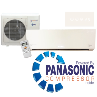 Easy Fit KFR-33IW/X1CM 12000 BTU White Gloss Inverter System Heat And Cool Air Conditioning Unit Powered By A Panasonic Compressor