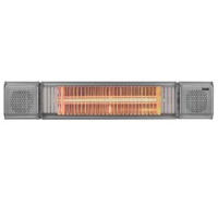 Heat Outdoors 901622 2kW Heat And Beat Patio Heater In Silver With Bluetooth Speakers