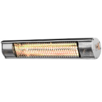 Heat Outdoors 901369 Shadow 1.5kW Ultra Low Glare Patio Heater In Silver
