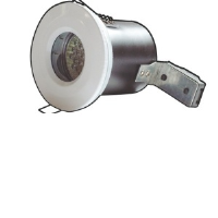 White Die-Cast IP65 Low Voltage Fire Rated Showerlight Kit
