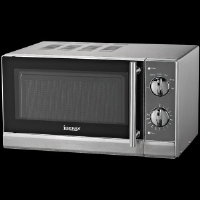 Igenix IG2855 20 Litre Manual Microwave With A Stainless Steel Interior And Exterior