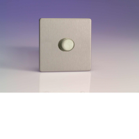 Varilight HDS7S 1 Gang Low Load Dimmer 2 Way Push-On Push-Off In Brushed Steel