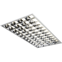 1200 x 600 4 Tube High Frequency T8 Recessed Modular Light Fitting With A Cat2 Louvre