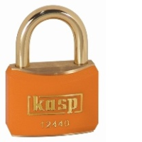 124 40mm Keyed ALike Coloured Brass Padlock In Orange K12440ORAA1