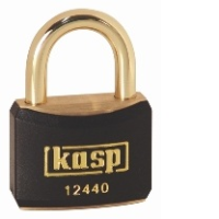 124 40mm Keyed ALike Coloured Brass Padlock In Black K12440BLAA1