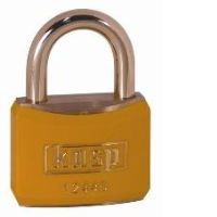 124 40mm Coloured Brass Padlock In Yellow K12440YELD