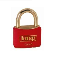 124 40mm Coloured Brass Padlock In Red K12440REDD
