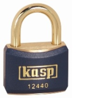 124 40mm Keyed ALike Coloured Brass Padlock In Blue K12440BLUA1