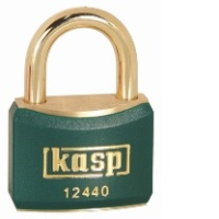 124 40mm Coloured Brass Padlock In Green K12440GRED