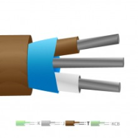 Type T Pvc Insulated Mylar Screened Thermocouple Cable Wire Iec