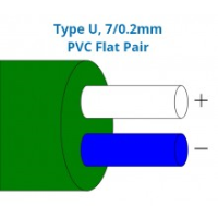 Type U Pvc Insulated Flat Pair Thermocouple Cable Wire Bs
