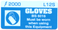 L012 S - Gloves must be Worn x 100