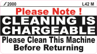 L042 M - Cleaning is Chargeable (Medium)