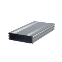 "B2-220SI (Series 2 Extruded Aluminium Enclosures), in Silver. Dimensions 220mm x 108.5mm x 30mm (8.66"" x 4.27"" x 1.18""). Manufactured in Aluminium."