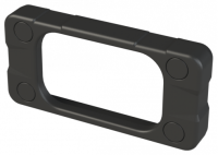 """ZAB1 (E-Case A ABS End Bezel), in Black. Dimensions 63.5mm x 29.5mm x 10mm (2.50"""" x 1.16"""" x 0.39""""). Manufactured in ABS Plastic."""
