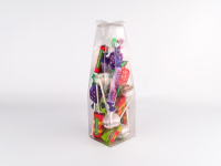D Lock Base Shaped Carton With Flower Top That Can Be Recycled