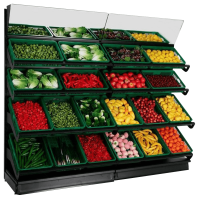 Wall Fruit And Vegetable Displays 4 Tier Display