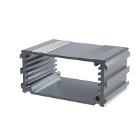 "B1-040RD (Series 1 Extruded Aluminium Enclosures). Manufactured in Aluminium, Colour Red, Dimensions 40mm x 63.5mm x 30mm (1.57"" x 2.50"" x 1.18""). (Box Enclosures Ltd)"