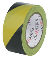 Yellow and Black Social Distancing Floor Marking Tape  6 Rolls  50mm x 33m