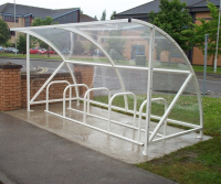 Dalby 10 Cycle Shelter Open Fronted