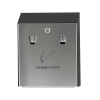 Galvanised Wall Mounted Smokers Bin