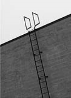 Vertical Fixed Stainless Steel Fire Escape Ladders