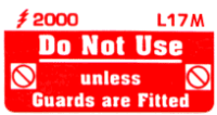 L017 M - Do Not use, unless Guards Fitted (Medium) x 100