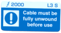 L003 S - Cable must be unwound x 100