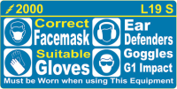 L019 S - Mask/Gloves/Ear/Eye Protection (Small) x 100