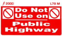 L079 M - Do Not use on Public Highway