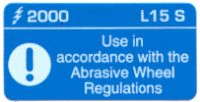 L015 S - Use in acc with Abras. Wheel Regs x 100