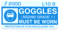 L010 S - Goggles Must be Worn x 100