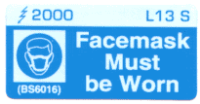 L013 S - Facemask must be Worn x 100