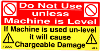 L008 L - Do Not use unless Machine is Level x 100