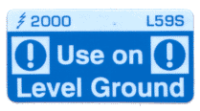 L059 S - Use on Level Ground