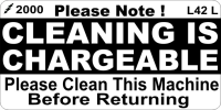 L042 L - Cleaning is Chargeable (Large)