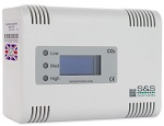 S&S Northern Merlin CO2 Monitor 4500ppm for Commercial Kitchen Gas Interlocks