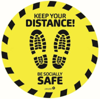 Keep Your Distance and Be Socially Safe Floor Sticker X 5
