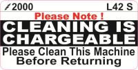 L042 S - Cleaning is Chargeable (Small)