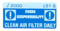 L051 S - Clean Air Filter Daily